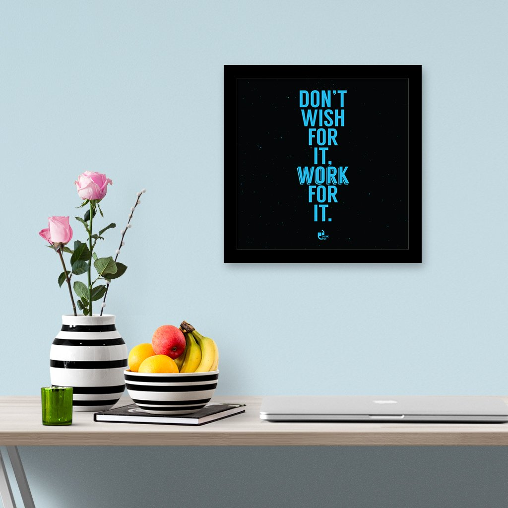 work for it frame