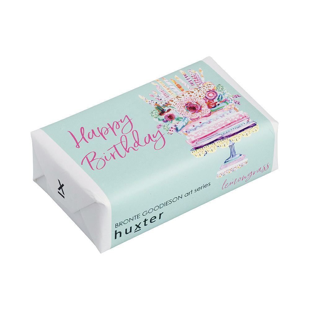 Blue Happy Birthday Soap - Basil, Lime and Mandarin Body Huxter