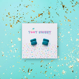 Blue Macaron Stud Earrings Jewellery Sweet Magazine