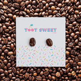 Coffee Bean Stud Earrings Jewellery Sweet Magazine