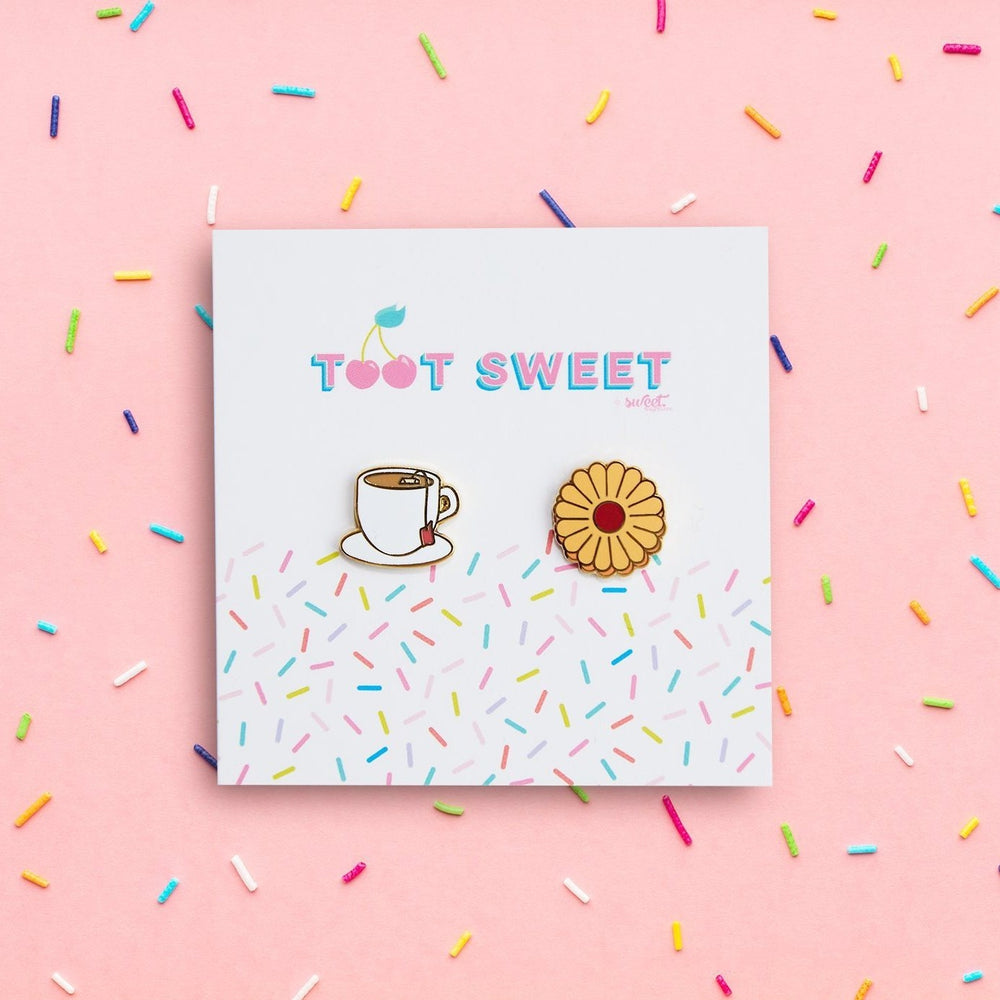 Cup of Tea and a Biscuit Stud Earrings Jewellery Sweet Magazine