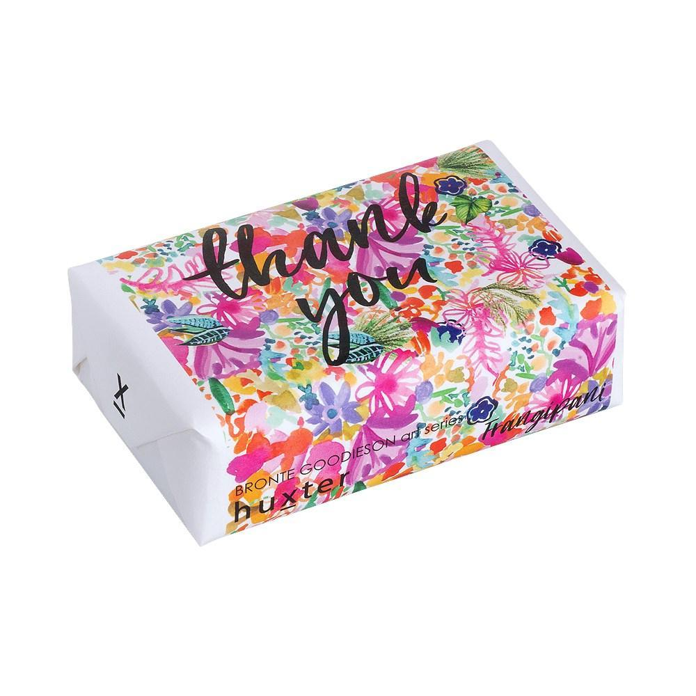 Floral Thank You Soap - Frangipani Body Huxter