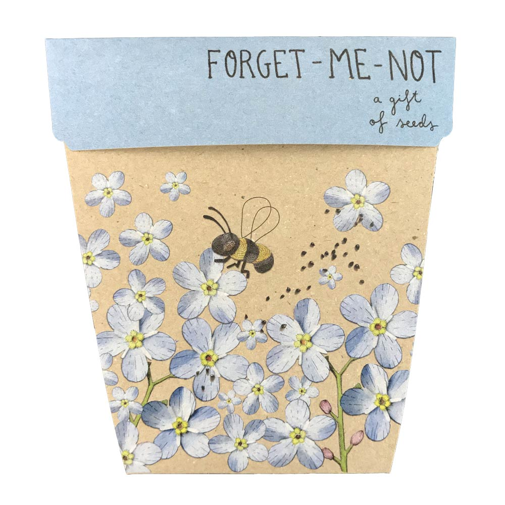 Forget Me Not Gift of Seeds Greeting Card Greeting Card Sow 'n Sow