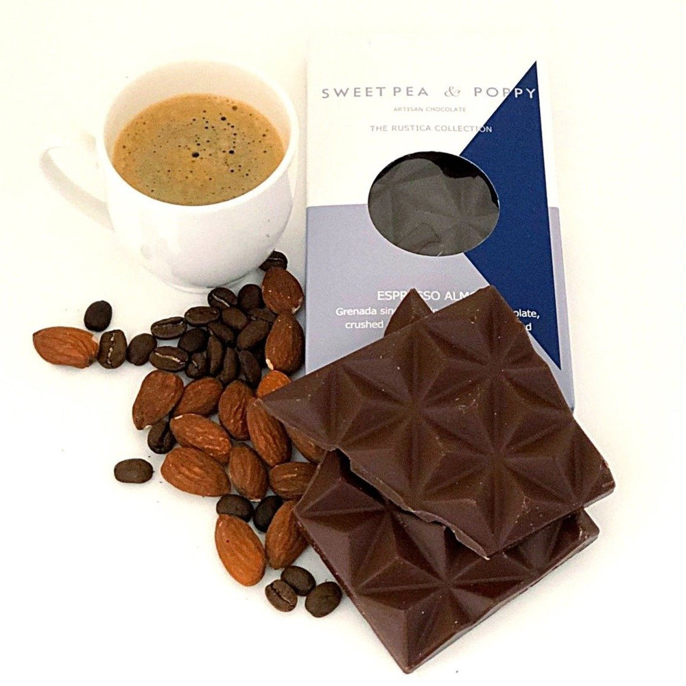 Grenada Milk Espresso and Roast Almond Chocolate Gourmet Sweet Pea & Poppy