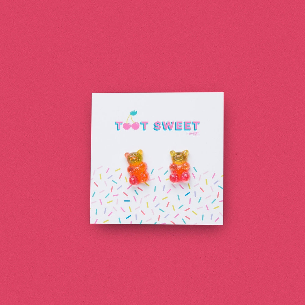 Gummy Bear Stud Earrings Jewellery Sweet Magazine Sunburst
