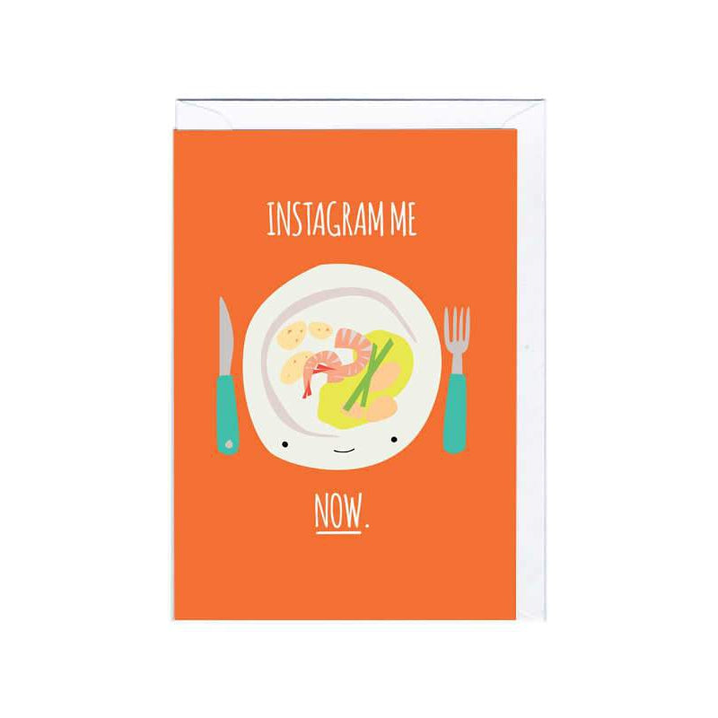 Instagram me Card Greeting Card Jolly Awesome