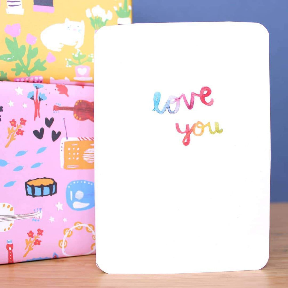 Love You Card Greeting Card Laura Skillbeck