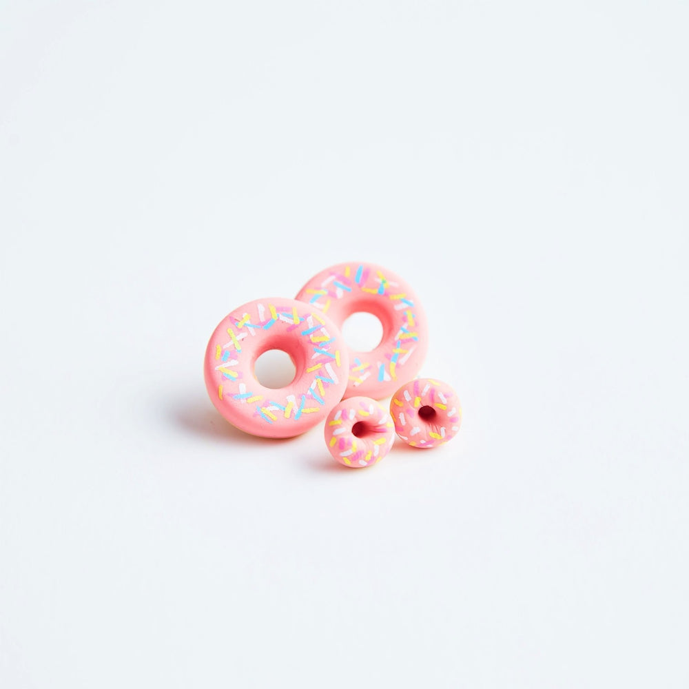 Mini Strawberry Stylised Donut Earrings Jewellery Sweet Magazine