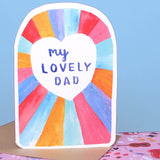 My Lovely Dad Greeting Card Greeting Card Laura Skillbeck