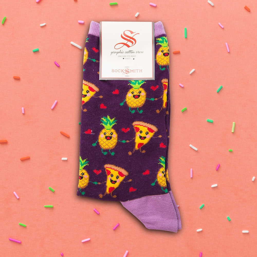 Pizza Loves Pineapple Socks Socks Sock Smith