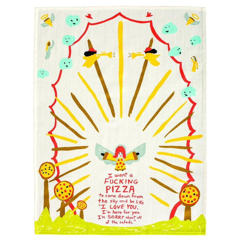 Pizza Tea Towel Tea Towel Blue Q