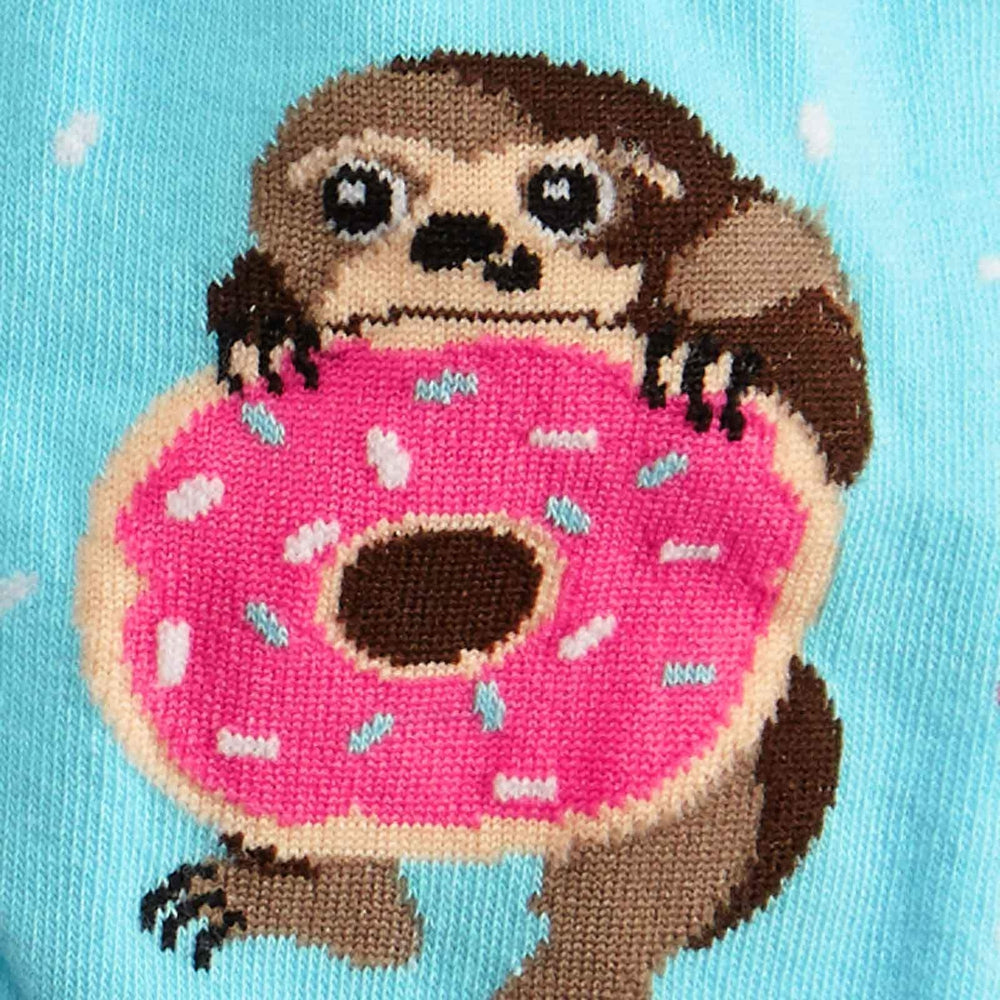 Snackin' Sloth Donut Socks Socks Sock It To Me
