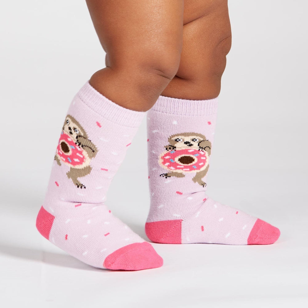Snackin' Sloth Donut Socks Socks Sock It To Me Toddler (1-2 years) Purple