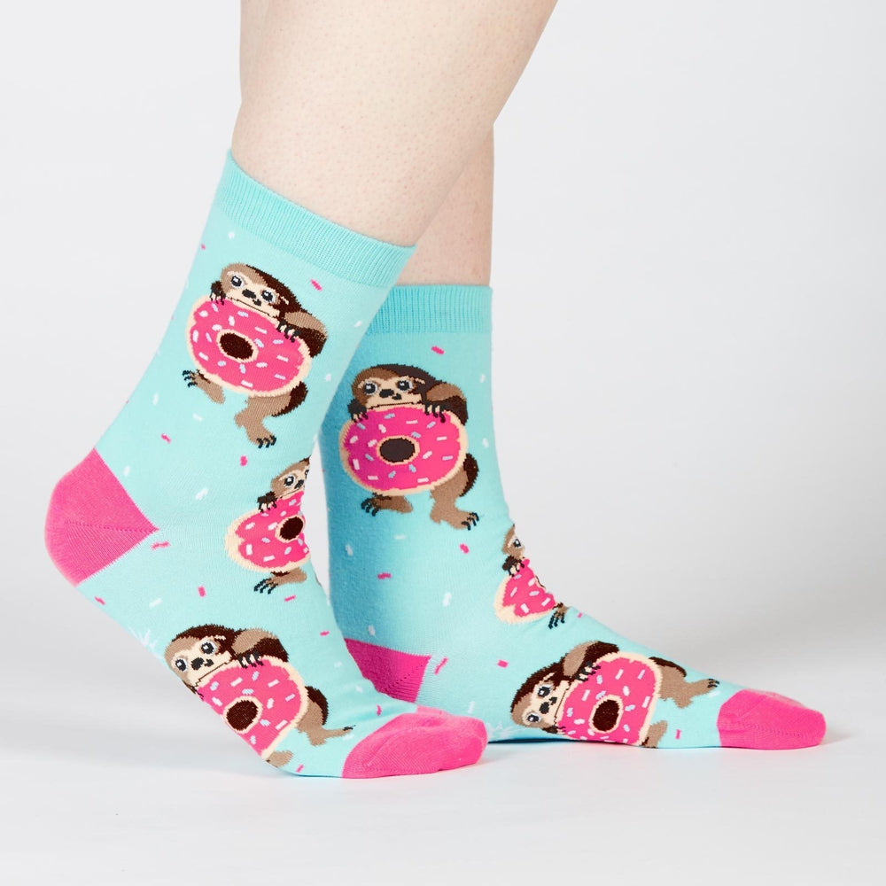 Snackin' Sloth Donut Socks Socks Sock It To Me Women's Blue