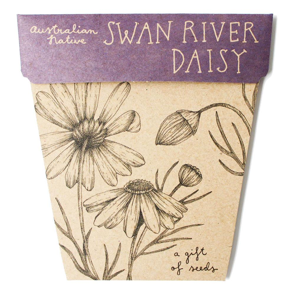 Swan River Australian Native Gift of Seeds Greeting Card Greeting Card Sow 'n Sow