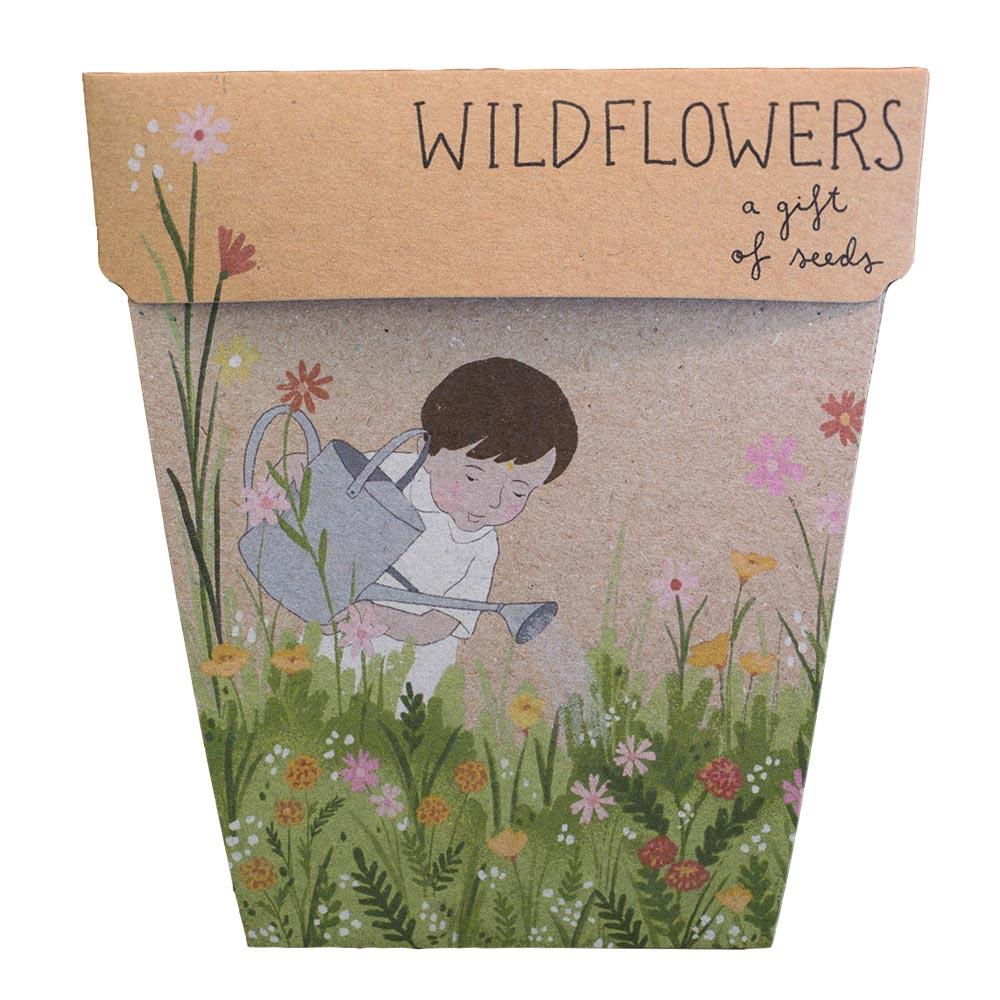 Wildflowers Children's Gift of Seeds Greeting Card Greeting Card Sow 'n Sow