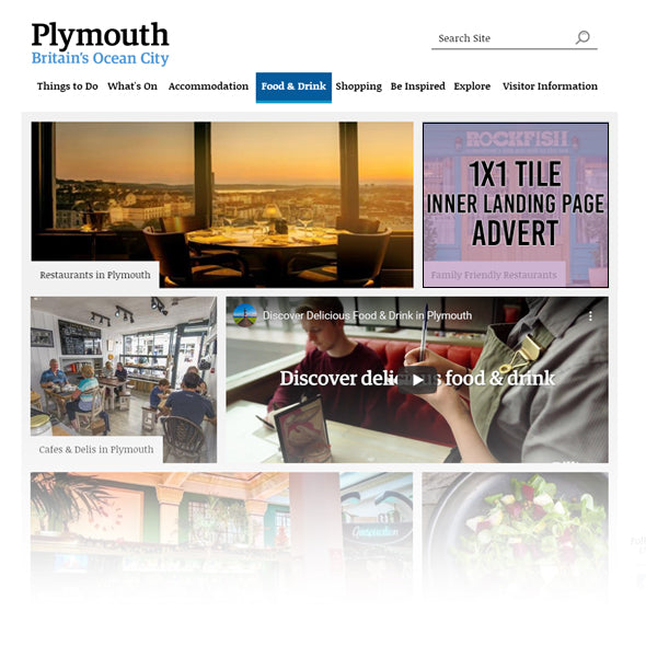 Visit Plymouth Inner Landing Page 1x1 Tile
