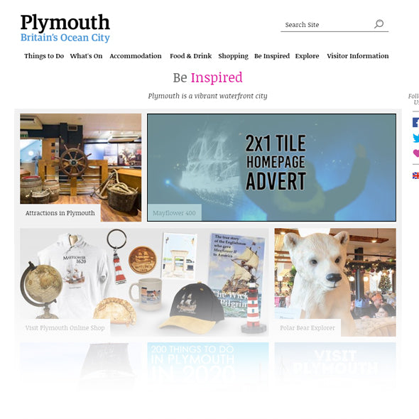 Visit Plymouth Homepage 2x1 Tile