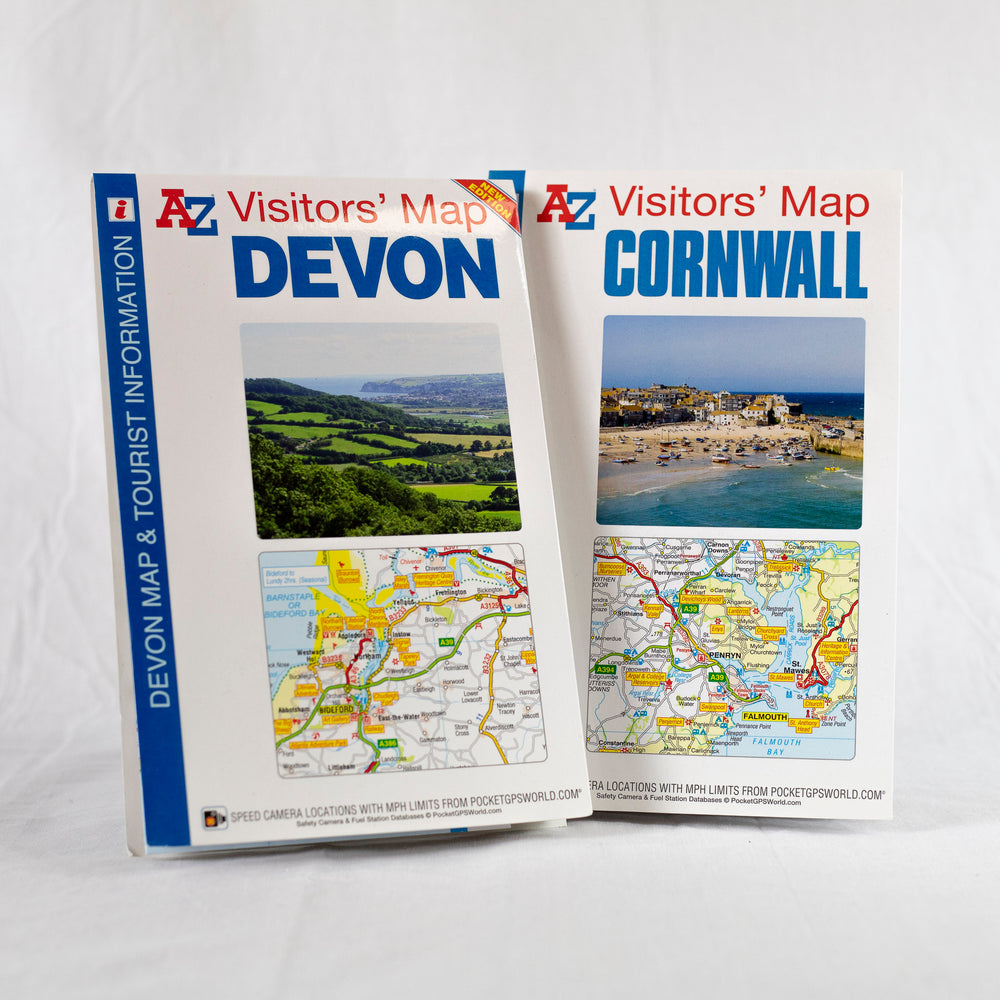 A-Z Visitors' Map of Cornwall