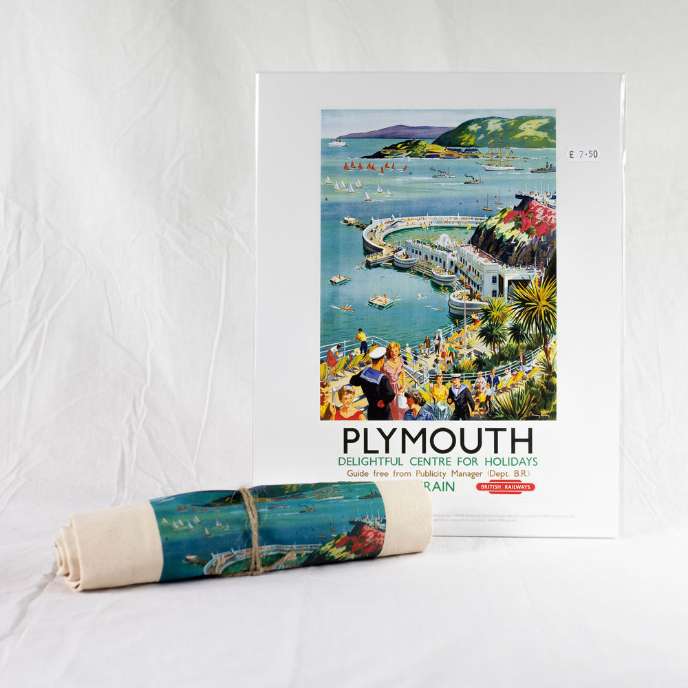 Plymouth Vintage Railway Canvas Tote Bag