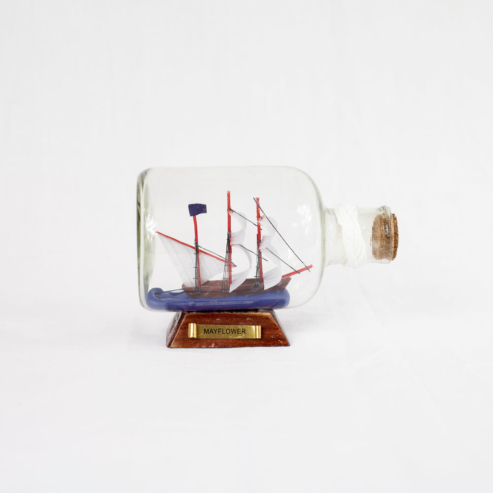 Large Mayflower Ship in Bottle