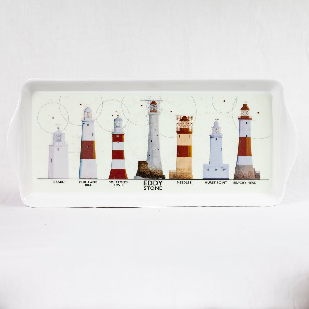 Lighthouses Melamine Tray - Large