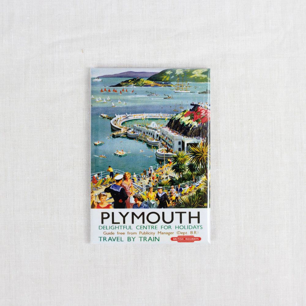 Plymouth Hoe Vintage Railway Fridge Magnet