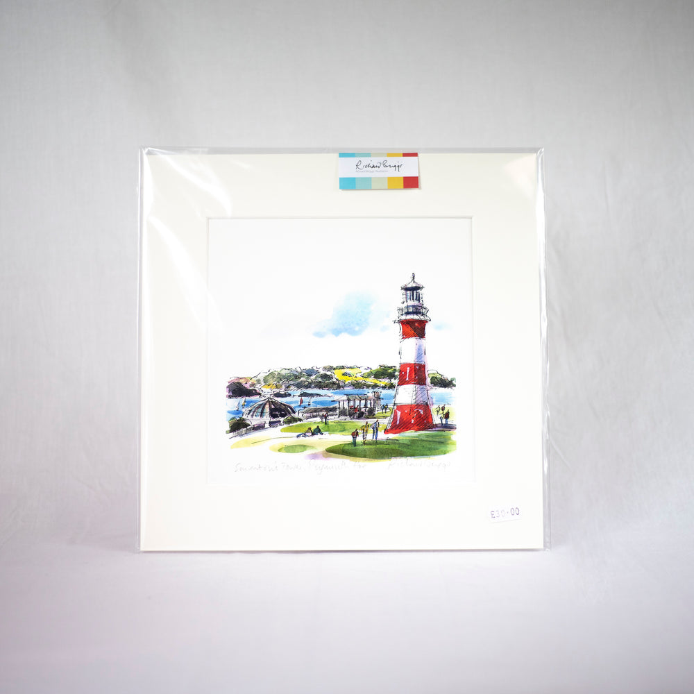 Smeaton's Tower Fine Art Print by Richard Briggs (22cm x 22cm)