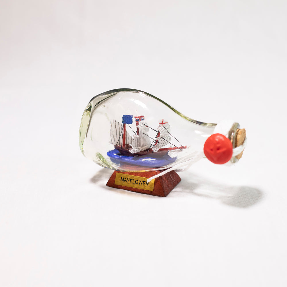 Small Mayflower Ship in Bottle