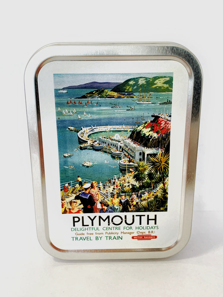 Collectors Tin - Plymouth Hoe Vintage Railway Poster