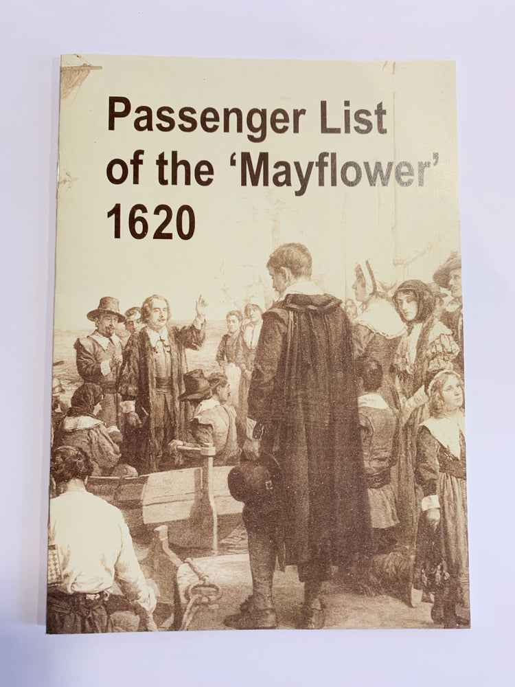 Passenger List of the 'Mayflower' 1620 Booklet