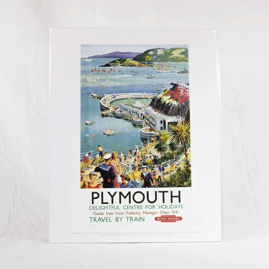 Plymouth Hoe Vintage Railway Poster Print