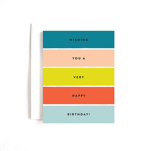 BDAY STRIPES CARD