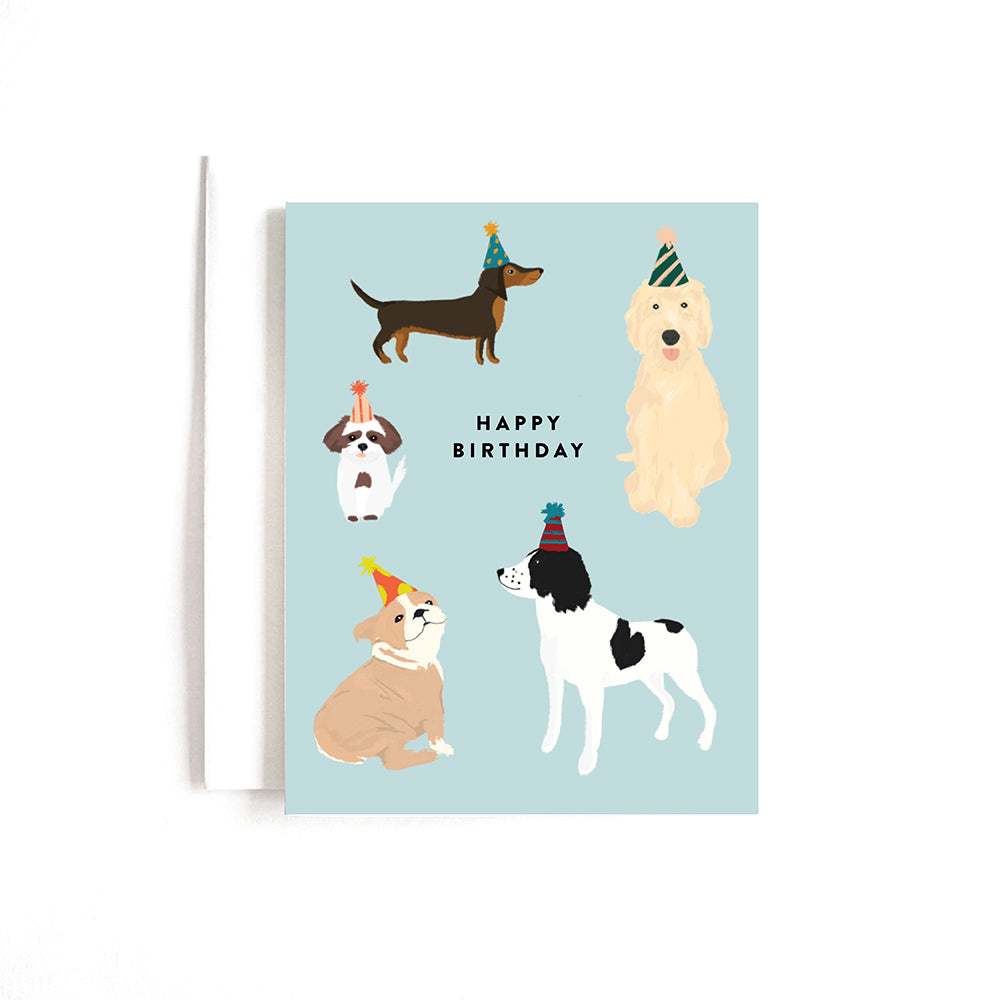 PARTY DOGS BDAY CARD