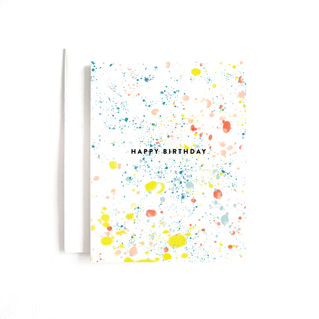 BDAY SPLATTER CARD