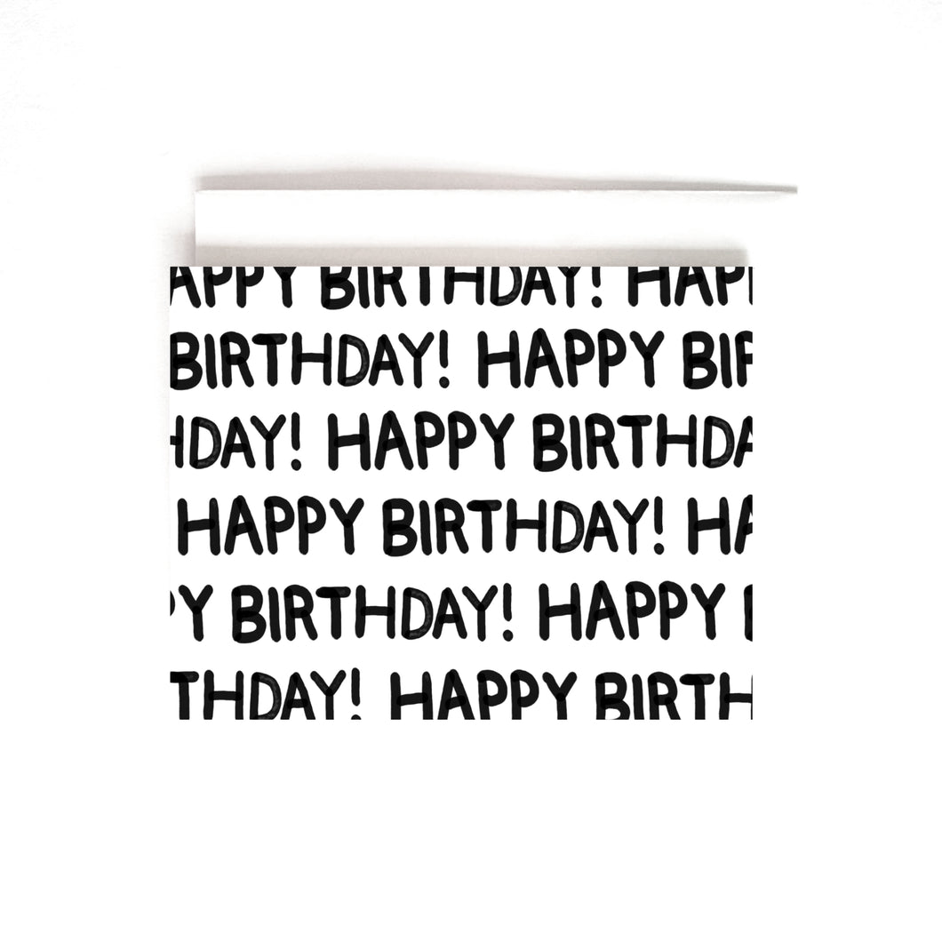 B&W LETTERED BDAY CARD