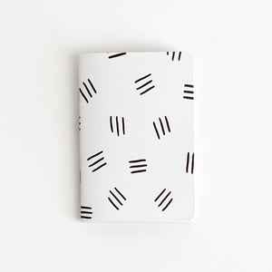 Black Line Pattern Pocket Journal