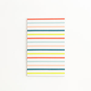 Colorful Stripes Journal