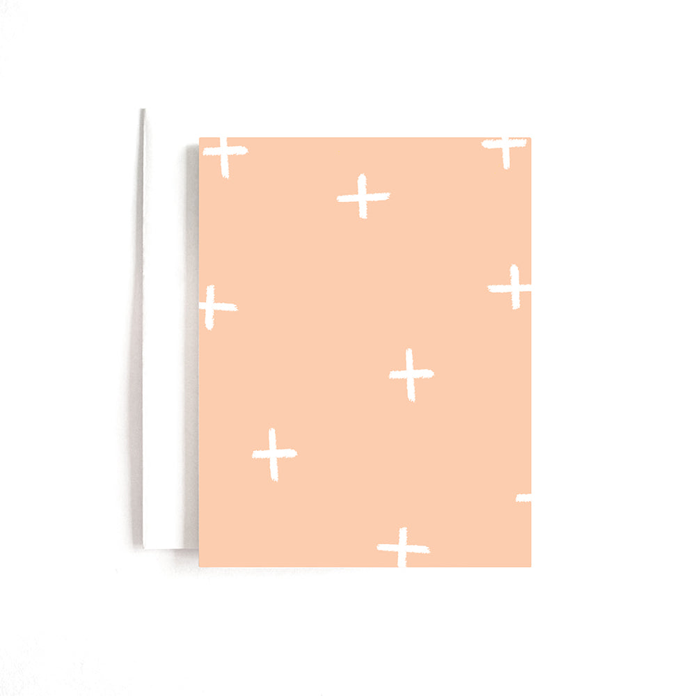 Pink Plus Pattern Card