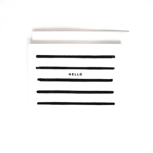 B&W STRIPE HELLO CARD