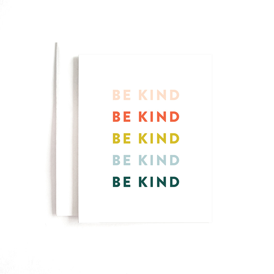 BE KIND CARD