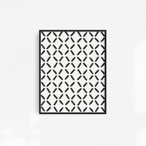 Black & White Patterned Art Print