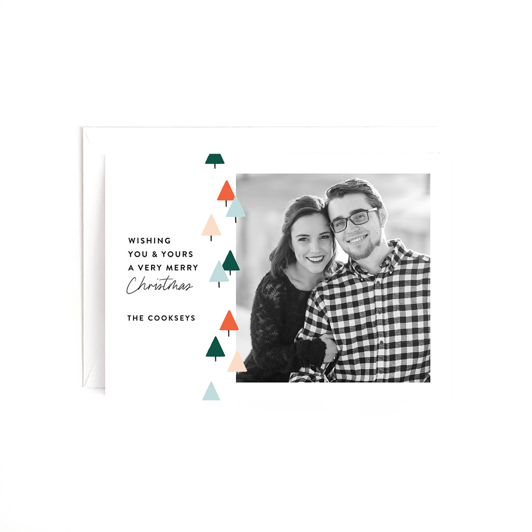 Christmas Trees Personalized Holiday Photo Card
