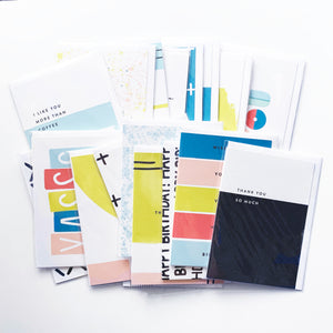 Stationery Grab Bag, Greeting Card Set of 20 (Discontinued A7 size)