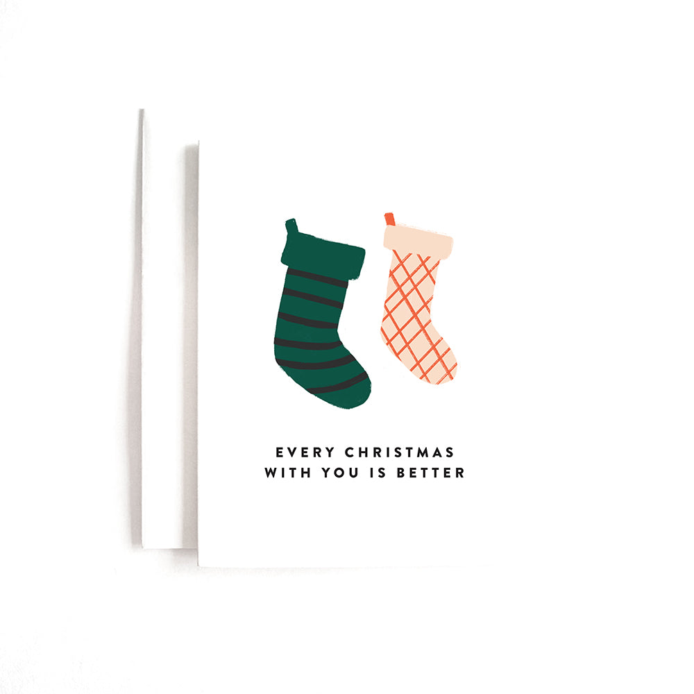 XMAS STOCKINGS CARD