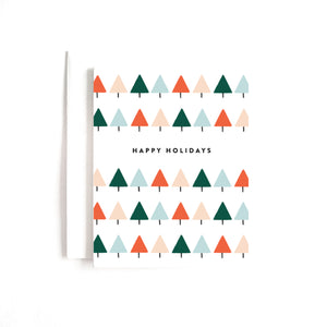 Geo Tree Holiday Boxed Set of 8 Cards
