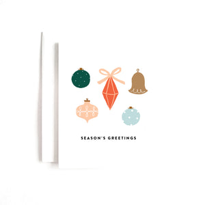SEASON'S GREETINGS ORNAMENT CARD