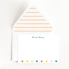 Load image into Gallery viewer, Colorful Hearts Stationery