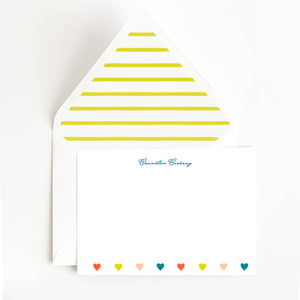Colorful Hearts Stationery