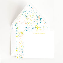 Load image into Gallery viewer, Paint Splatter Stationery